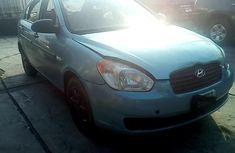 Selling blue 2009 Hyundai Accent manual in Lagos