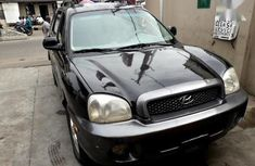 Well maintained black 2002 Hyundai Santa Fe suv for sale in Lagos