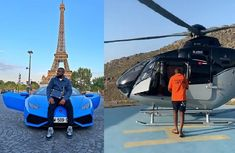 Hushpuppi joins chopper club, rides Airbus helicopter to Greek party