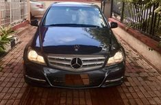 Blue 2009 Mercedes-Benz C300 sedan automatic for sale in Enugu