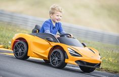 Can you get this for your kid? Check out the McLaren kiddie 720S with butterfly doors & movie player