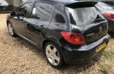 Well maintained black 2005 Peugeot 307 for sale at price ₦1,400,000 in Kaduna