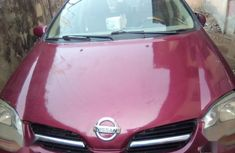 Well maintained red 2002 Nissan Almera manual for sale in Lagos