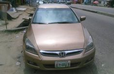 Brown 2007 Honda Accord sedan automatic for sale at price ₦790,000