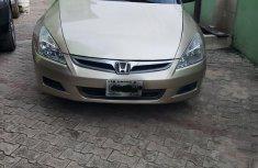 Gold 2007 Honda Accord car at attractive price in Lagos