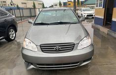 Grey 2003 Toyota Corolla automatic at mileage 75,133 for sale in Lagos