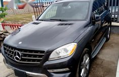 Used blue 2012 Mercedes-Benz M-Class automatic for sale in Lagos