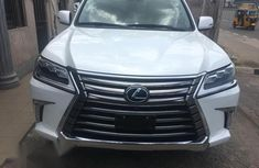 White 2017 Lexus LX car automatic at attractive price in Lagos