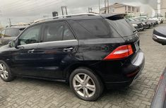 Black 2012 Mercedes-Benz M-Class car at mileage 33,000 at attractive price