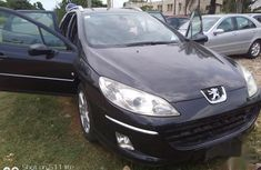 Well maintained black 2007 Peugeot 407 sedan automatic for sale
