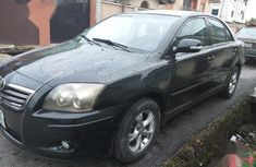 Well maintained black 2008 Toyota Avensis sedan automatic for sale