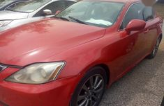 Red 2007 Lexus IS car at attractive price in Abuja