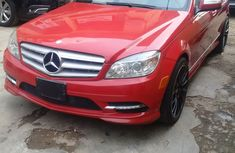 Tokunbo 2009 Mercedes Benz C300 4matic - Red