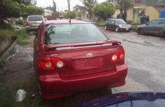 Clean Nigerian used Toyota Corolla 2002 Red