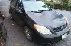 Well Maintained Nigerian used Toyota Matrix 2003 Black