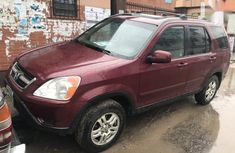 Well Maintained Nigerian used Honda CR-V 2004 2.0i ES Red