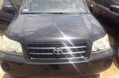 Clean Foreign used Toyota Highlander 2002 Black