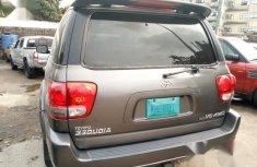 Nigerian Used 2005 Toyota Sequoia Gray Colour