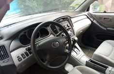 Foreign Used Toyota Highlander 2002 Silver Colour