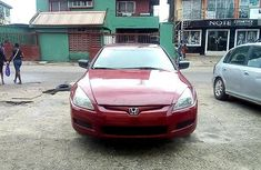 Sell red 2004 Honda Accord automatic in Lagos at cheap price