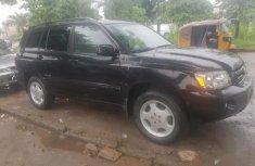 Neat Nigerian used Toyota Highlander 2007 Limited V6 4x4 Black