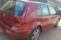 Clean Nigerian used Volkswagen Golf 2002 Red