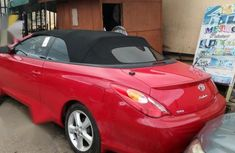 Neat Foreign used Toyota Solara 2005 Red