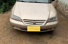 Neatly Used Tokunbo Honda Accord 5P 2001 Gold Colour
