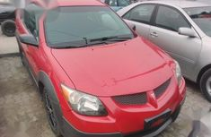 Clean Foreign Used Pontiac Vibe 2004 Red Colour