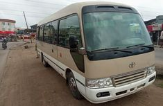 Sell used beige 2008 Toyota Coaster van / minibus at price ₦9,000,000