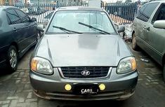 Well maintained grey/silver 2003 Hyundai Accent for sale at price ₦307,465 in Lagos