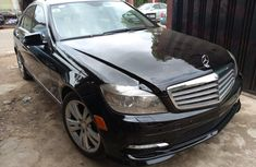 Well maintained black 2009 Mercedes-Benz C300 sedan for sale in Lagos