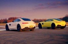Video of thrilling drag race between Aston Martin Vantage & Mercedes-AMG GT S