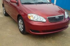 Nigeria Used Toyota Corolla LE 2004 Model Red for Sale
