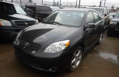 Nigeria Used Toyota Matrix XR 2005 Model Black for Sale