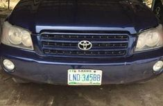 Clean Nigerian Used Toyota Highlander 2004 Blue