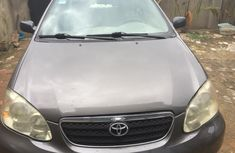 Neat Nigerian Used Toyota Corolla 2005 Model Grey