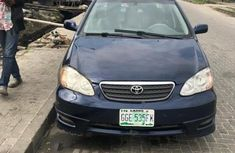 Nigerian Used Toyota Corolla Automatic 2006 Model Blue