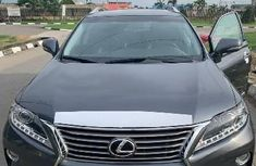 Clean Foreign Used Lexus RX 2013 Model Grey/Silver