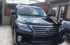 Neat Foreign Used Lexus LX 2015 Model Black