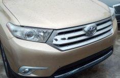 Foreign Used Toyota Highlander 2012 Model Gold