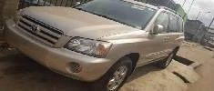 Foreign Used Toyota Highlander 2004 Model Gold