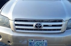 2007 Gold Nigerian Used Toyota Highlander 3Row Seater for Sale