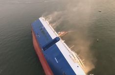 South Korean cargo ship carrying 4,200 new cars capsizes off Georgia coast