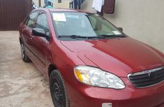 Red Foreign Used 2006 Toyota Corolla Sedan Automatic
