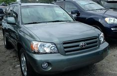 Foreign Used Toyota Highlander 2005 Model Green