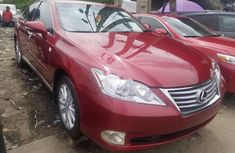 Red Foreign Used Lexus ES 2011 Model