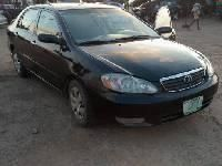Nigeria Used Toyota Corolla 2007 Model Black
