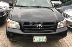 Nigeria Used Toyota Highlander 2005 Model Black