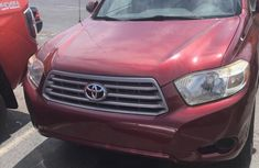 Foreign Used Toyota Highlander 2008 Model Red